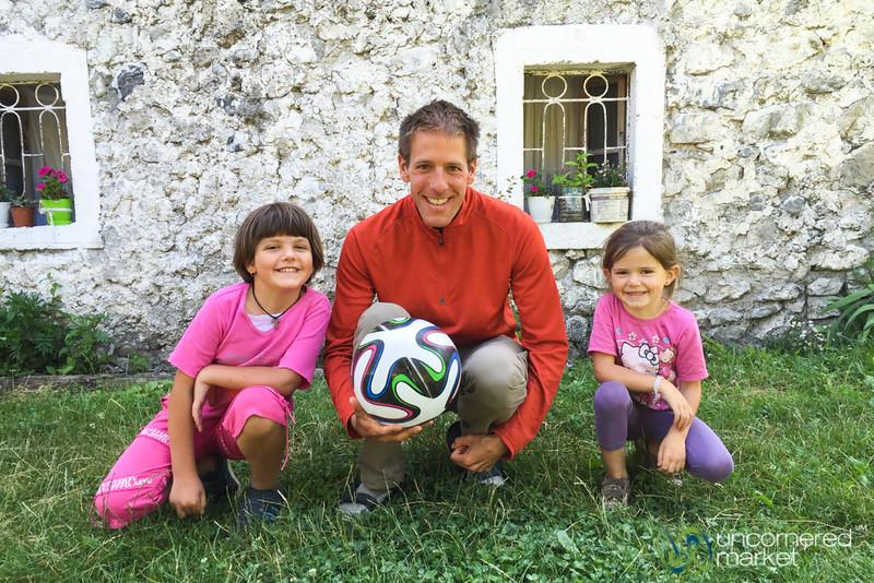 Dan Joins the Nderlysa Soccer Team - Albania