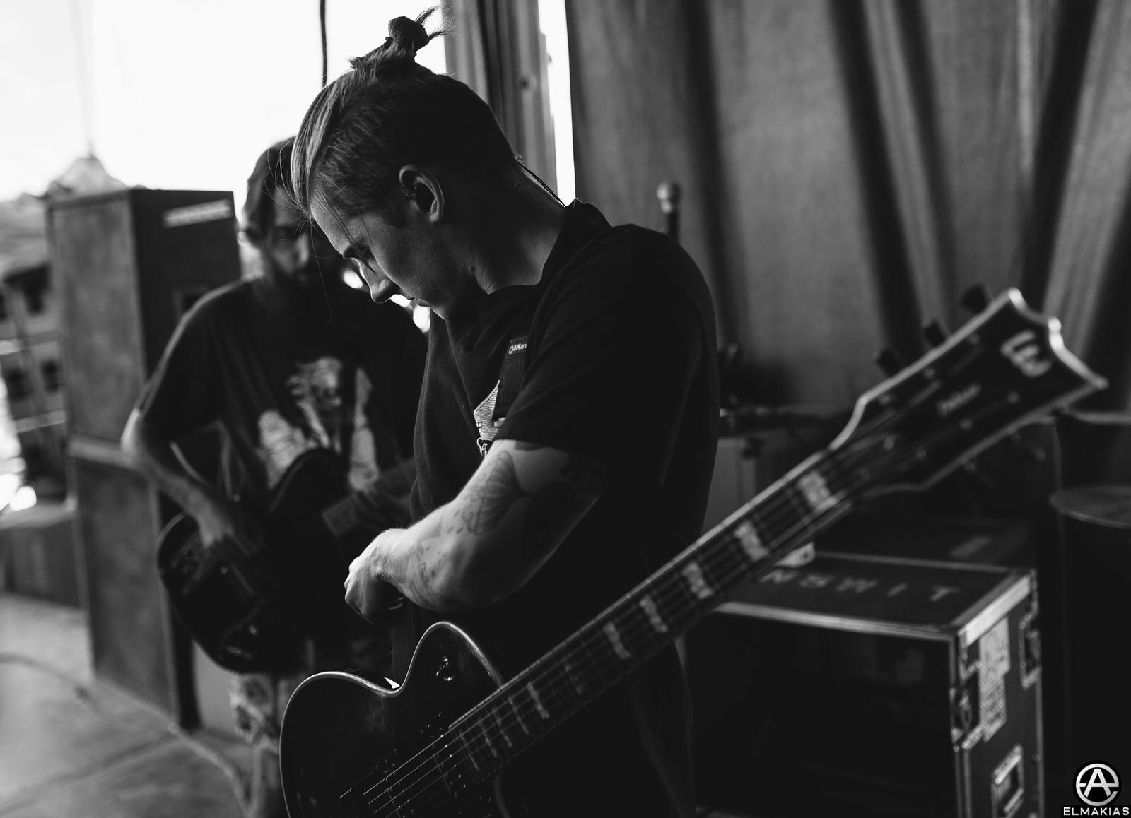 Lloyd Roberts of Neck Deep live at Vans Warped Tour 2015 by Adam Elmakias