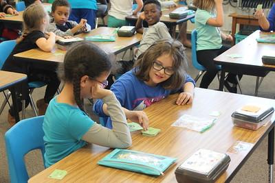 Second-grade math at Prescott Elementary School