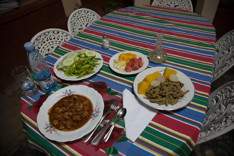 Dinner in Trinidad.