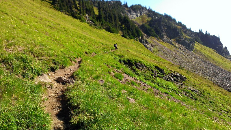 Heading up out of Jordan Basin to the Goat Creek basin