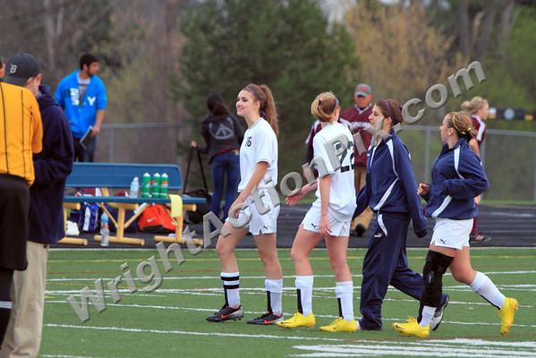 2010 04 13 Clarkston Girls JV Soccer vs Hazel Park Vikings