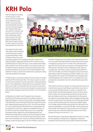 Tidworth Polo Club Magazine
