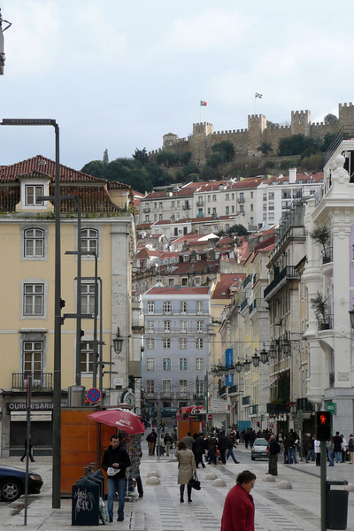 Baixa and Castelo de São Jorge. Lisbon