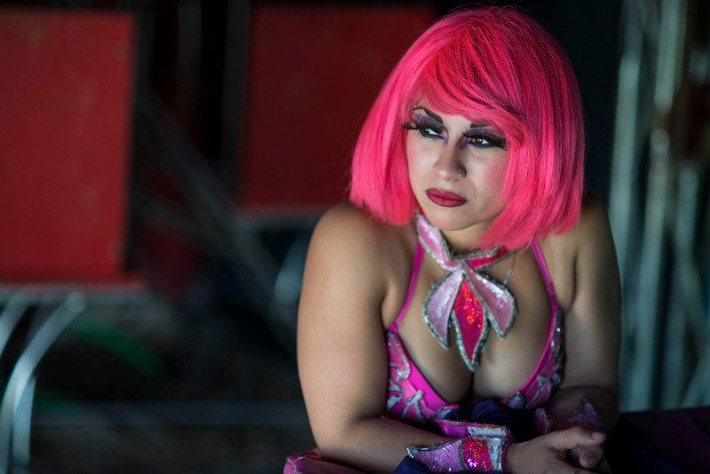 . In this June 22, 2014 photo, Aineses Macias waits to perform during the Fuentes Gasca Brothers Circus in Mexico City. Like many of the performers in the circus Macias was born and raised in the circus. Recent legislation in the city will ban animals from the circus once the law takes effect next year. Many circus performers fear they�ll be out of work without animals because people won�t want to come to the circus only to see the acrobatic, trapeze and performances by clowns. (AP Photo/Sean Havey)