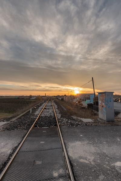 Parma-Suzzara Railway - Gualtieri, Reggio Emilia, Italy - March 2, 2019