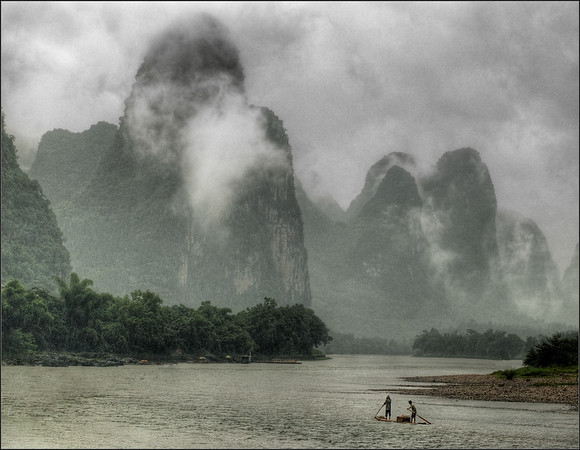 Rain Storm-Li River-Yangshuo-China