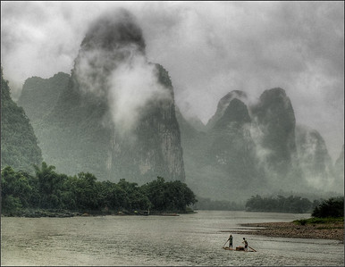 Rain Storm-Li River-Yangshuo-China