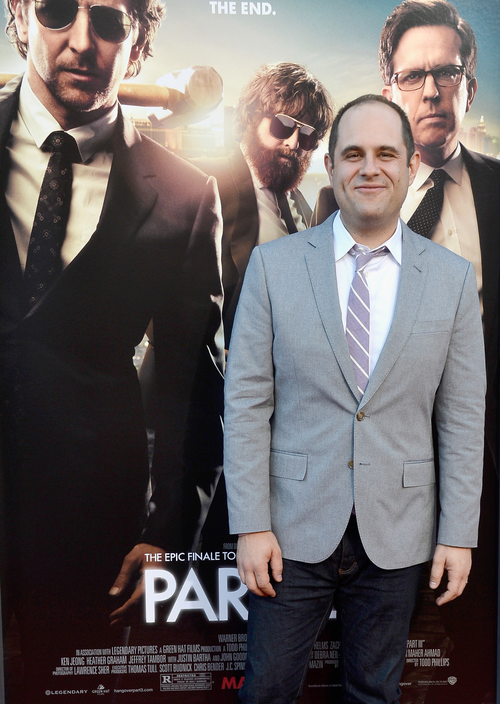 """. Writer Craig Mazin attends the premiere of Warner Bros. Pictures\' \""""Hangover Part 3\"""" at Westwood Village Theater on May 20, 2013 in Westwood, California.  (Photo by Frazer Harrison/Getty Images)"""