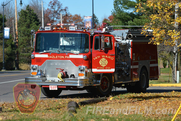 Luzerne County - Hazleton City - Apartment Building Fire - 11/07/2016