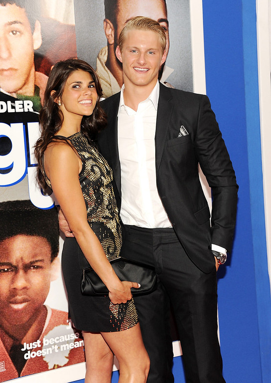 """. Actor Alexander Ludwig and girlfriend Nicole Pedra attend the premiere of \""""Grown Ups 2\"""" at the AMC Loews Lincoln Square on Wednesday, July 10, 2013 in New York. (Photo by Evan Agostini/Invision/AP)"""