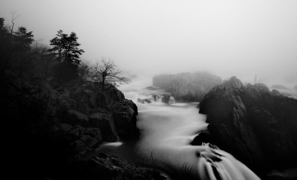 Virginia, Great Falls Misty Sunrise, Mar 2012