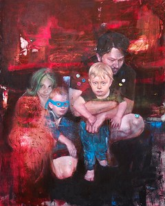 """""""Superhero"""" (oil on canvas) by Barbara Porczyńska"""