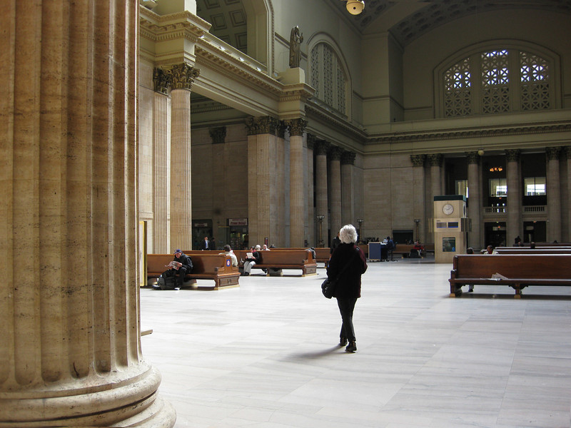 Lyn at Union Station, Chicago.