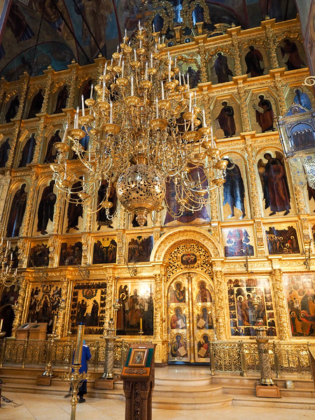 Inside the Cathedral of the Assumption at Troitse-Sergiev Monastery