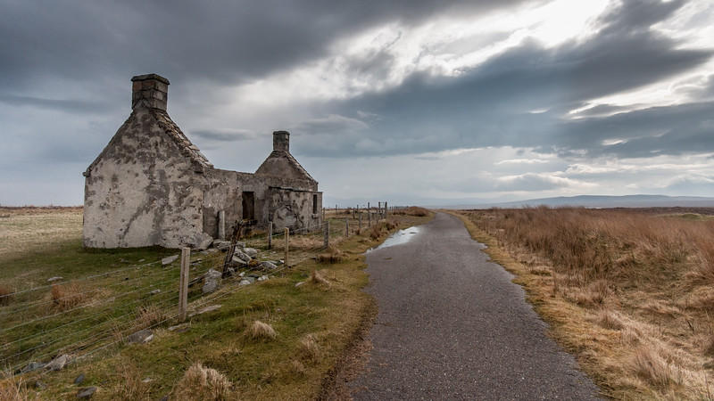 Ruined cottage in remote Scottish Highlands
