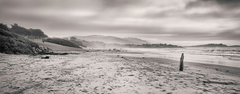 Carmel. Beach on a winter's day.