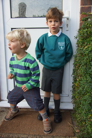 2014-09-09 Harry's first day at school