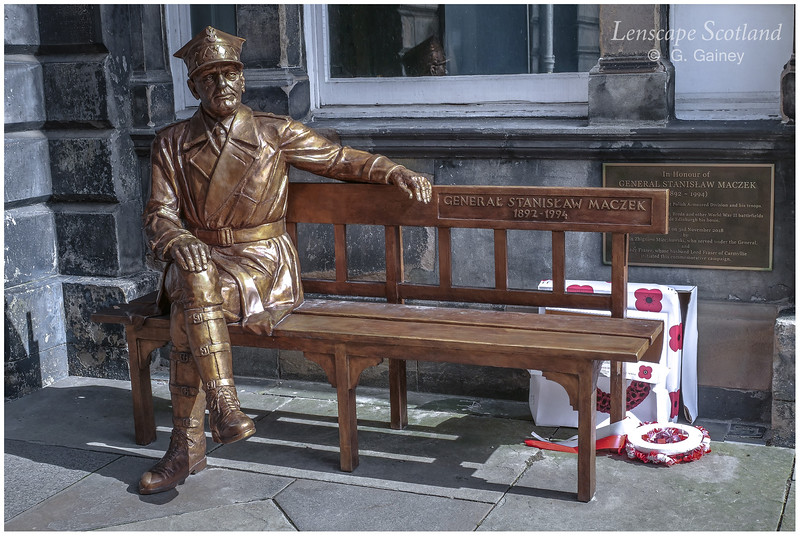 General Stanislaw Maczek statue, City Chambers courtyard