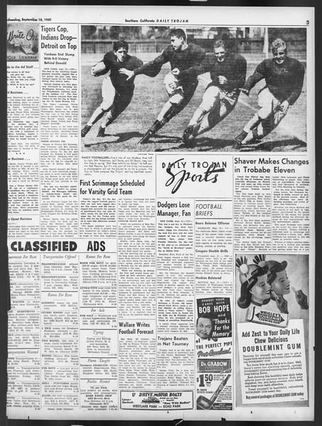 Daily Trojan, Vol. 32, No. 4, September 18, 1940