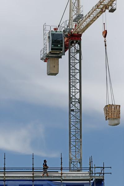 Working construction crane. Update 180 . Gosford. January 2019.