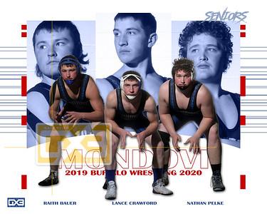 Mondovi wrestling seniors WRE1920