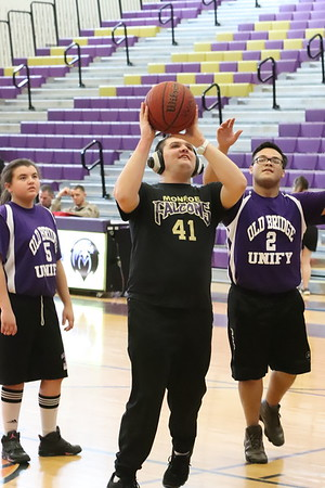 Feb. 25, 2019 Unified Basketball hosted Old Bridge Knights , photos by R DeBoer