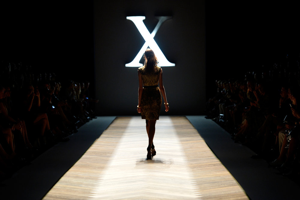 . A model showcases designs on the runway at the Camilla and Marc show during Mercedes-Benz Fashion Week Australia Spring/Summer 2013/14 at Carriageworks on April 8, 2013 in Sydney, Australia.  (Photo by Stefan Gosatti/Getty Images)