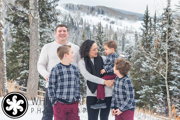 Vail Family Photos - Gore Creek Covered Bridge - Solis