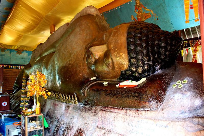 Reclining Buddha image atop Phnom Kulen