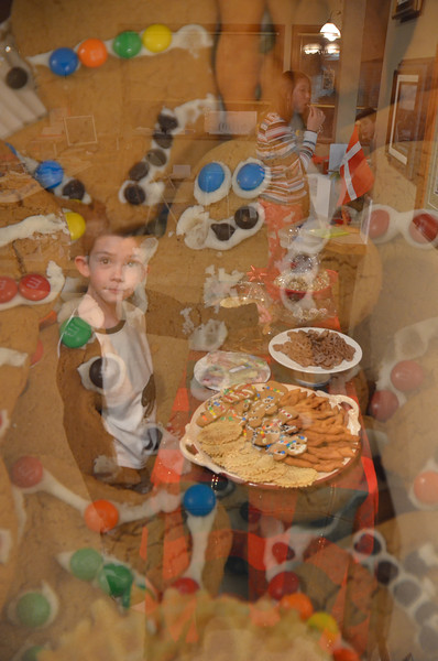 Double Exposure.  Josh likes gingerbread cookies.