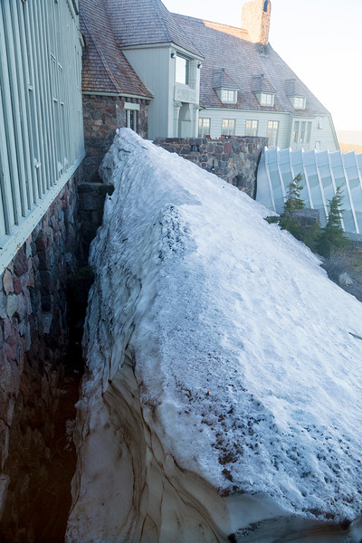 Next day: The huge drifts of winter, beginning to melt.