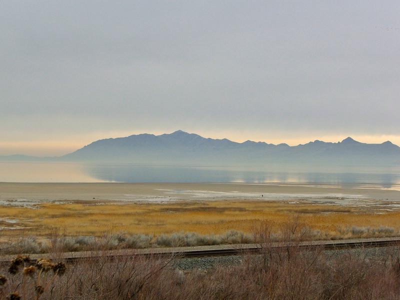 An Early Morning at the Salt Lake, Salt Lake City, Utah.