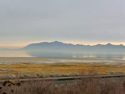 An Early Morning at the Salt Lake, Salt Lake City, Utah.