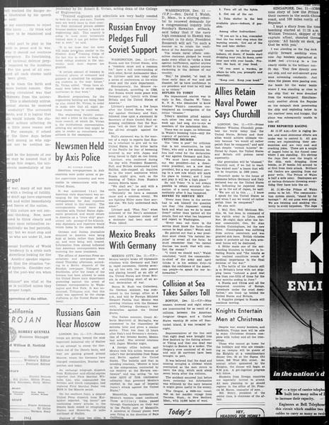 Daily Trojan, Vol. 33, No. 58, December 11, 1941