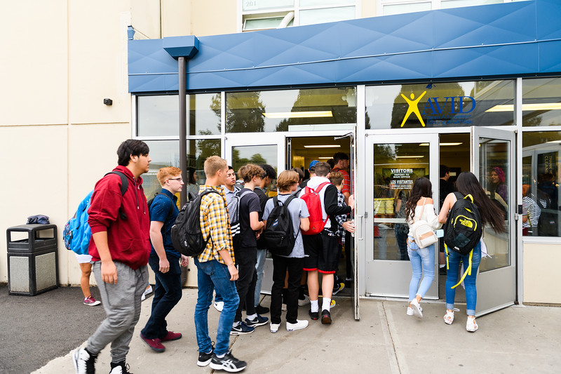 Back to school day at McNary High School on Wednesday, September 4, 2019 in Keizer, Ore.