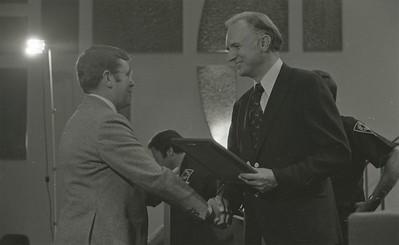 Mayor Hudnut Presents IPD Awards at City-County Council Chamber, Circa 1977, Img. 14