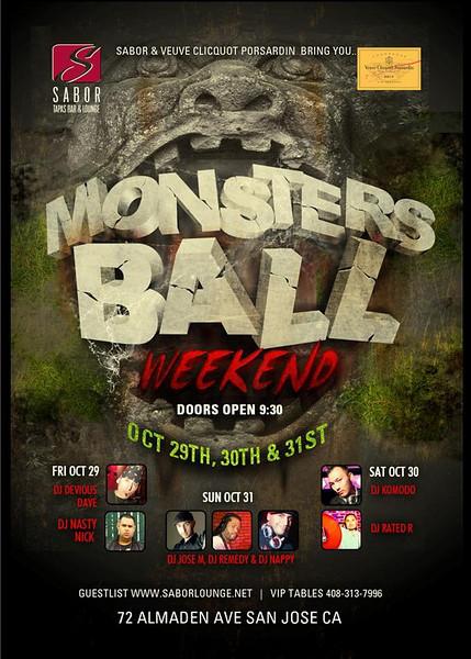 Sabor & Veuve Clicquot Porsardin presents Monsters Ball Weekend @ Sabor Tapas Bar & Lounge 10.29.10