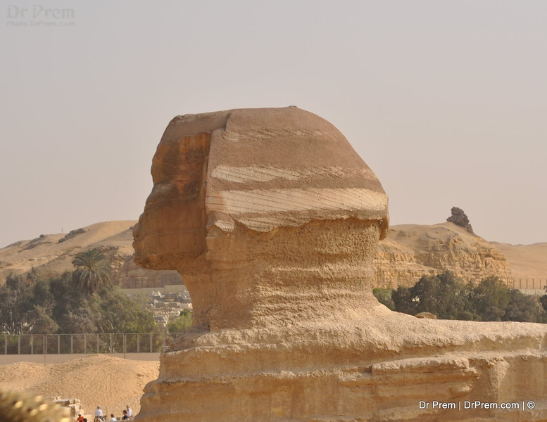 The Sphinx again awes us with its magnanimous-ness and the mighty posture allows us to decipher how powerful a symbol this is. The red sandstone and the flawless build combine to render this wonder a fierce quality while its close-views reveal a rather friendly disposition!