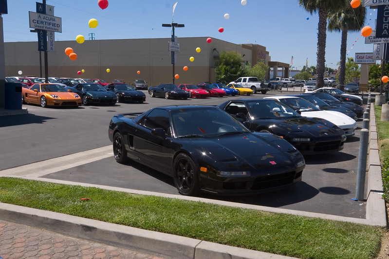 "Good NSX turnout...though there is something disturbing about seeing this many of our favorite no-longer-in-production-cars parked under the ""Acura Certified Used Vehicles"" banners"