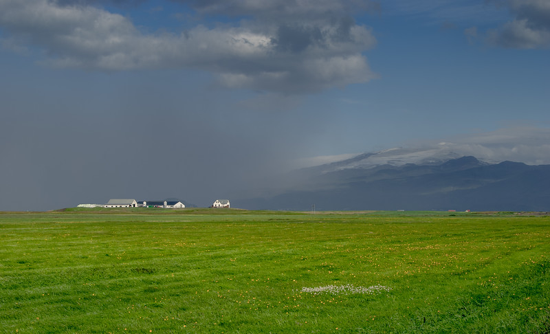 Sand Storm Near Eyjafjallajokull