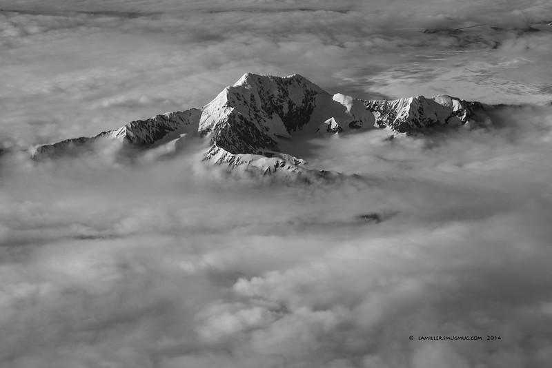 Alaska Airways flight from Juneau to Anchorage.