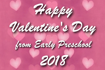 Early Preschool Valentine's Party - February 14, 2018