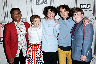 """NEW YORK, NY - AUGUST 30:  Build presents the cast of  """"IT"""" at Build Studio."""