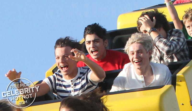 EXC: One Direction Enjoy Hair Raising Afternoon on Santa Monica Pier!