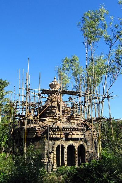 Buddhist temple replica in the Animal Kingdom at Disney World