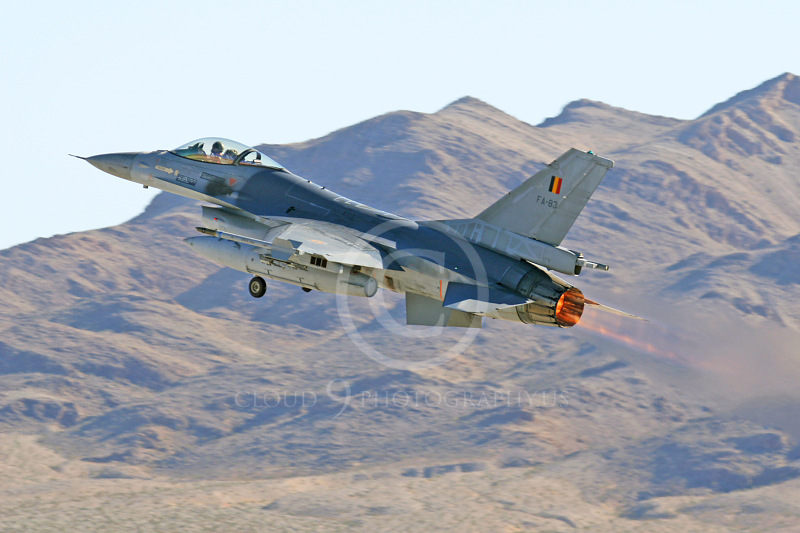 AB - F-16FORG 00036 Lockheed Martin F-16 Fighting Falcon Belgum Air Force FA-83 Nellis AFB by Tim P Wagenknect.JPG