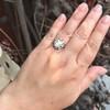 3.45ctw Antique Rose Cut Cluster Ring 27
