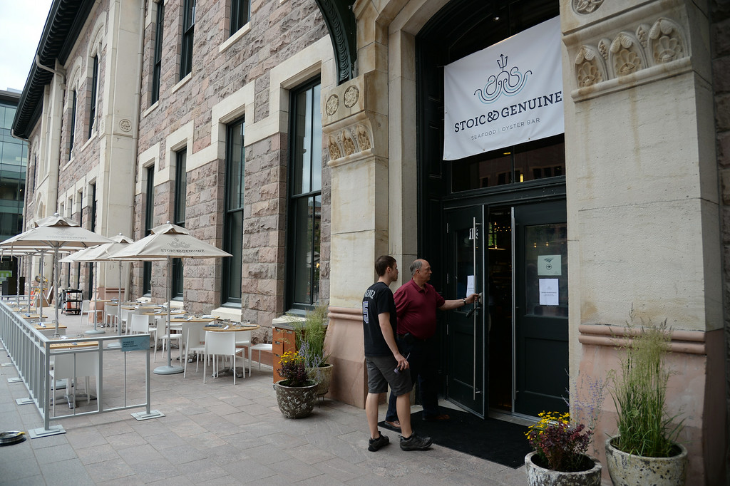 . DENVER, CO - JULY 08: Stoic & Genuine, Denver\'s multi-coastal seafood, oyster house and granita bar, is the first restaurant to open in Denver\'s Historic Union Station serving lunch and dinner daily. Denver, Colorado, July 8, 2014.  (Photo by Hyoung Chang/The Denver Post)