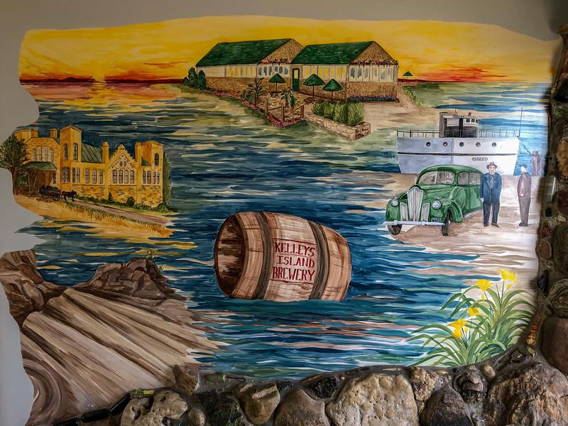 Mural at Kelleys Island Brewery